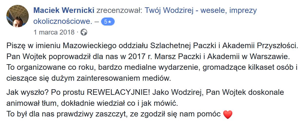 Szlachetna Paczka - Wodzirej Wojciech Salamon