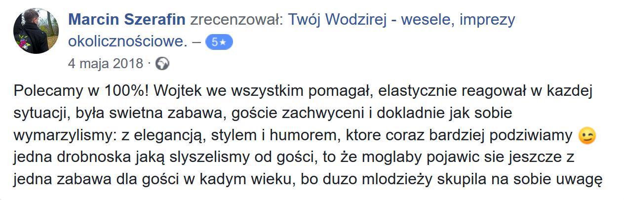 Marcin o Wojtku Wodzireju